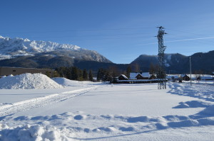 Běžky a výhled na Grimming v Tauplitz - Bad Mitterndorfu